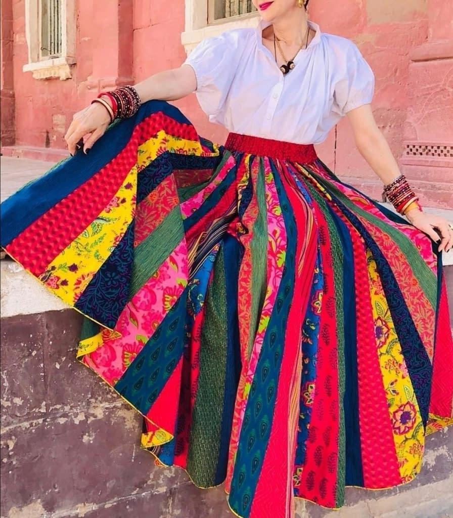 Vintage-Boho-Maxi-Skirt