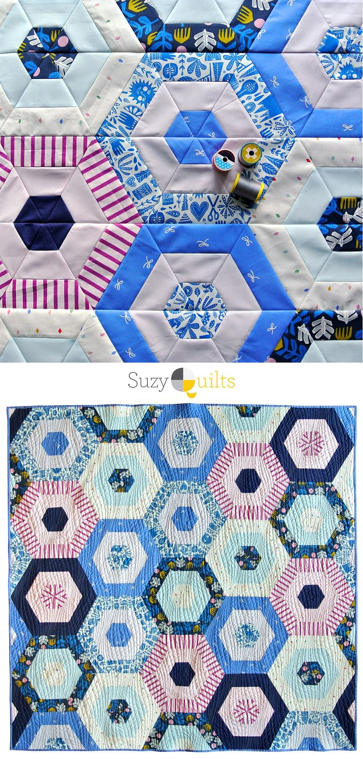 Suzy-quilts-hexie-stripe-quilt-blogs