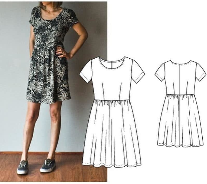 French-Navy-Orla-Dress-Free-Dress-Sewing-Patterns