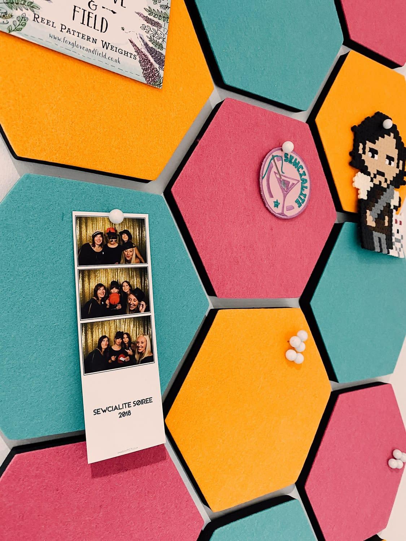 Nikki's-New-Sewing-Room-Hexagon-Pinboard